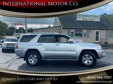 2004 Toyota 4Runner for sale at International Motor Co. in Saint Charles MO