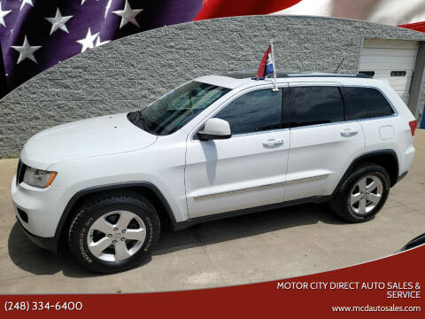 2013 Jeep Grand Cherokee for sale at Motor City Direct Auto Sales & Service in Pontiac MI