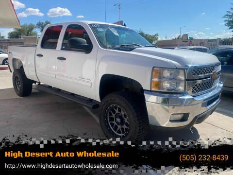2013 Chevrolet Silverado 2500HD for sale at High Desert Auto Wholesale in Albuquerque NM