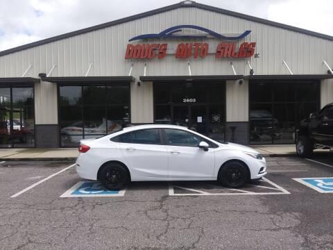 2017 Chevrolet Cruze for sale at DOUG'S AUTO SALES INC in Pleasant View TN