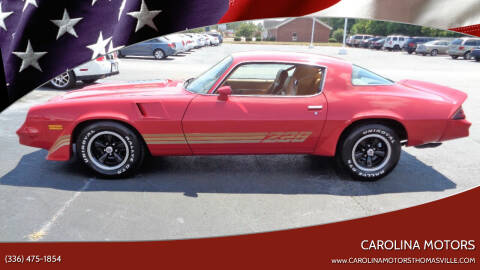 1981 Chevrolet Camaro for sale at CAROLINA MOTORS - Carolina Classics & More-Thomasville in Thomasville NC