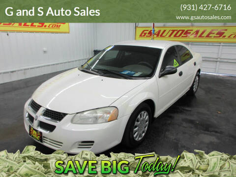 2004 Dodge Stratus for sale at G and S Auto Sales in Ardmore TN