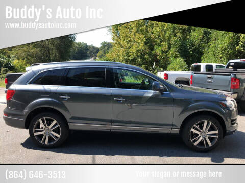 2013 Audi Q7 for sale at Buddy's Auto Inc in Pendleton SC