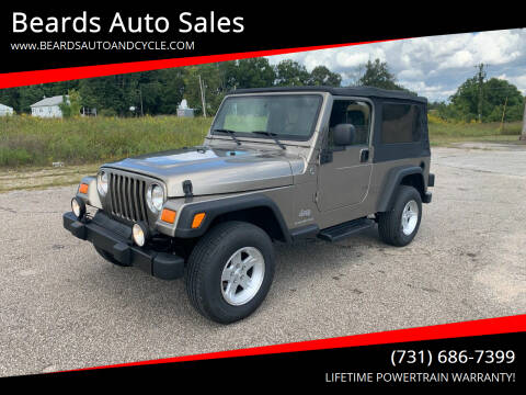 2005 Jeep Wrangler for sale at Beards Auto Sales in Milan TN