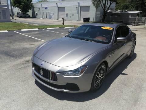 2016 Maserati Ghibli for sale at Best Price Car Dealer in Hallandale Beach FL