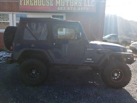 2004 Jeep Wrangler for sale at Firehouse Motors LLC in Bristol TN