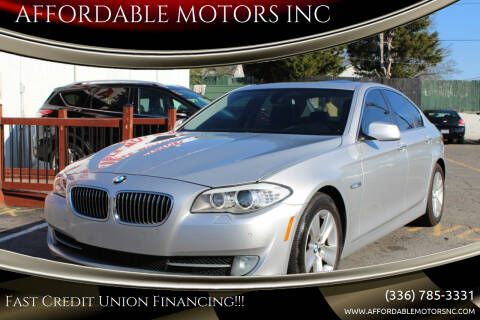 2012 BMW 5 Series for sale at AFFORDABLE MOTORS INC in Winston Salem NC
