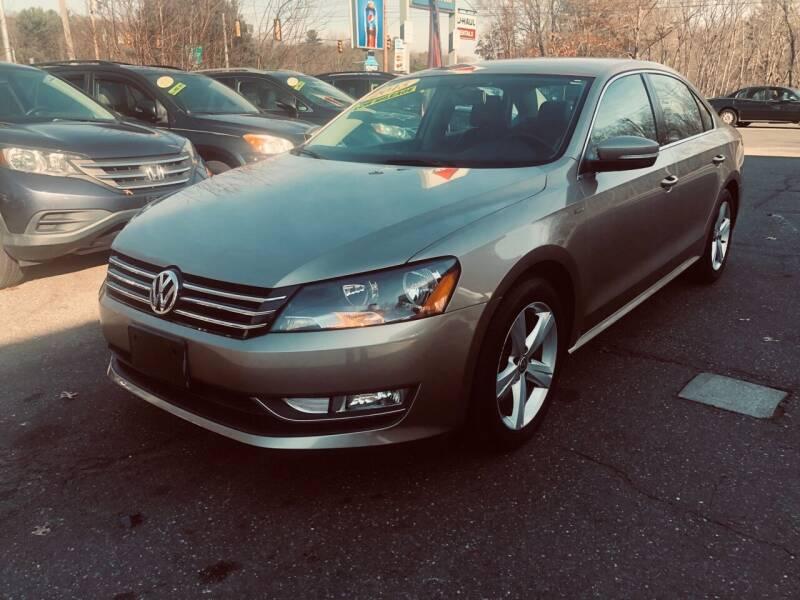 2015 Volkswagen Passat for sale at TOLLAND CITGO AUTO SALES in Tolland CT