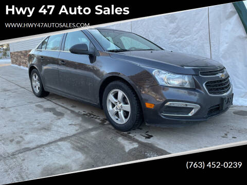 2015 Chevrolet Cruze for sale at Hwy 47 Auto Sales in Saint Francis MN