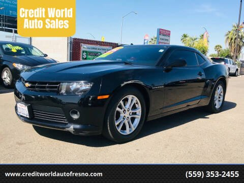 2014 Chevrolet Camaro for sale at Credit World Auto Sales in Fresno CA