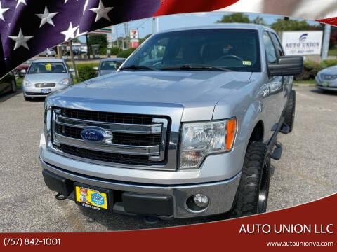 2013 Ford F-150 for sale at Auto Union LLC in Virginia Beach VA