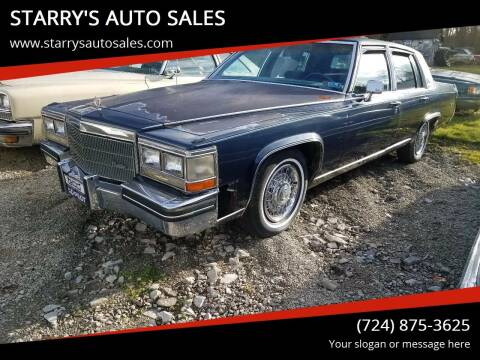 1984 Cadillac Fleetwood Brougham for sale at STARRY'S AUTO SALES in New Alexandria PA