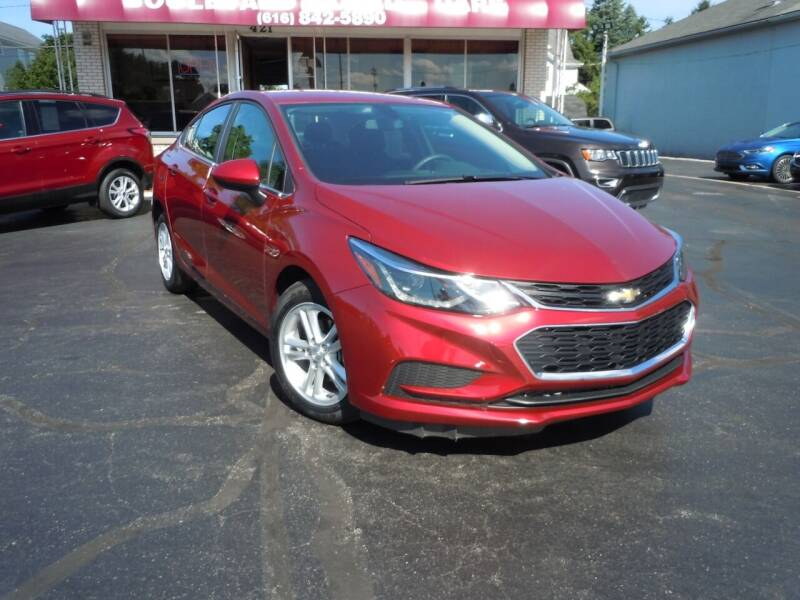 2018 Chevrolet Cruze for sale at Boulevard Used Cars in Grand Haven MI