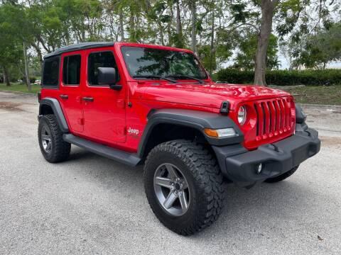 2018 Jeep Wrangler Unlimited for sale at DELRAY AUTO MALL in Delray Beach FL