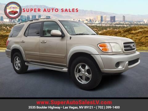 2001 Toyota Sequoia for sale at Super Auto Sales in Las Vegas NV
