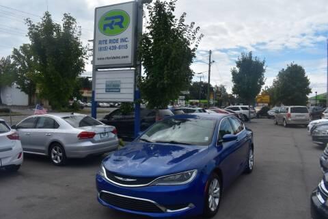 2016 Chrysler 200 for sale at Rite Ride Inc in Murfreesboro TN