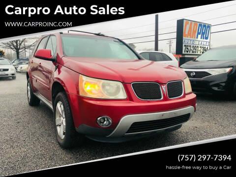 2006 Pontiac Torrent for sale at Carpro Auto Sales in Chesapeake VA