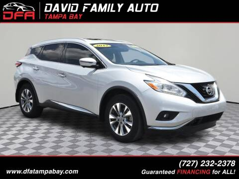 2017 Nissan Murano for sale at David Family Auto in New Port Richey FL