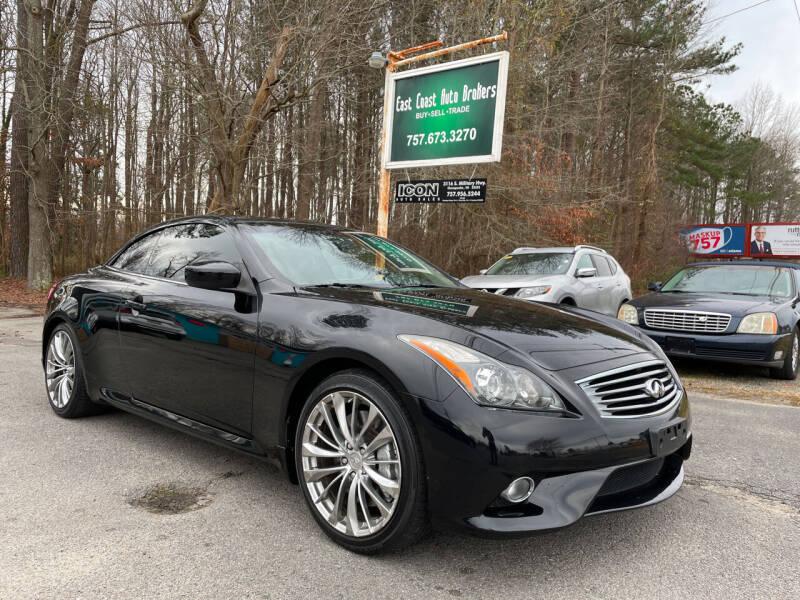 2013 Infiniti G37 Convertible for sale at East Coast Auto Brokers in Chesapeake VA