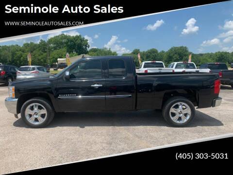 2012 Chevrolet Silverado 1500 for sale at Seminole Auto Sales in Seminole OK