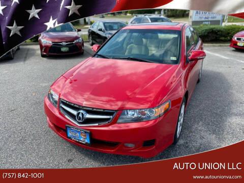 2007 Acura TSX for sale at Auto Union LLC in Virginia Beach VA