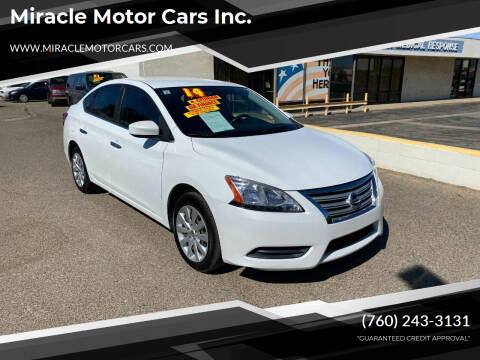 2014 Nissan Sentra for sale at Miracle Motor Cars Inc. in Victorville CA