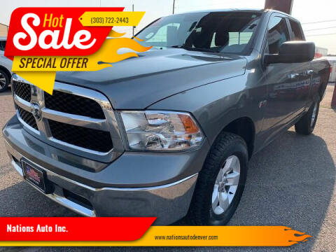 2013 RAM Ram Pickup 1500 for sale at Nations Auto Inc. in Denver CO