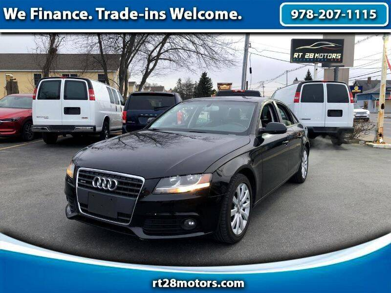 2012 Audi A4 for sale at RT28 Motors in North Reading MA