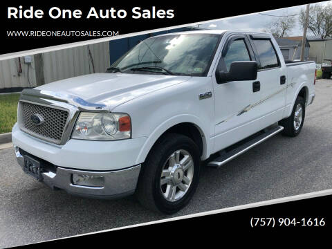 2004 Ford F-150 for sale at Ride One Auto Sales in Norfolk VA