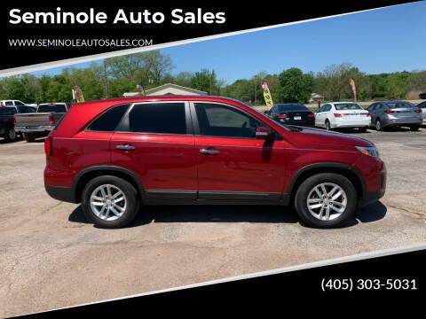 2014 Kia Sorento for sale at Seminole Auto Sales in Seminole OK
