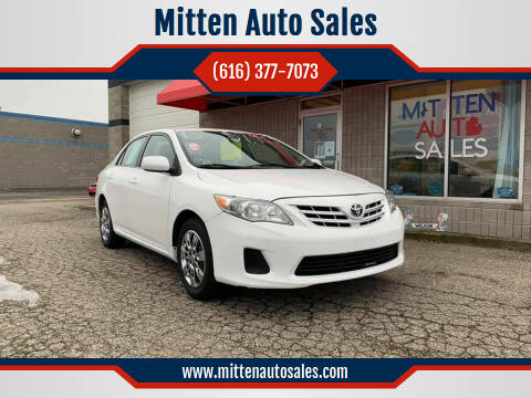 2013 Toyota Corolla for sale at Mitten Auto Sales in Holland MI