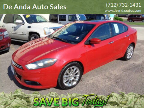 2013 Dodge Dart for sale at De Anda Auto Sales in Storm Lake IA