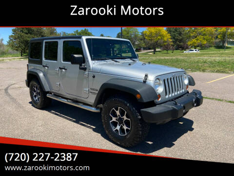 2011 Jeep Wrangler Unlimited for sale at Zarooki Motors in Englewood CO