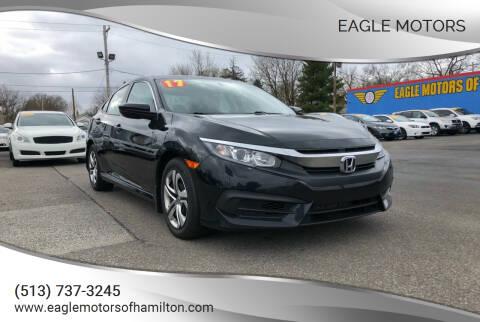 2017 Honda Civic for sale at Eagle Motors in Hamilton OH