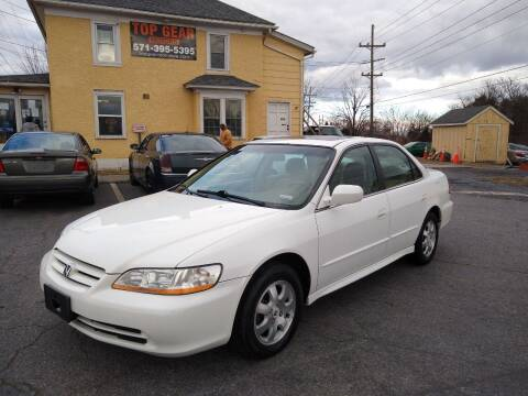 2001 Honda Accord for sale at Top Gear Motors in Winchester VA