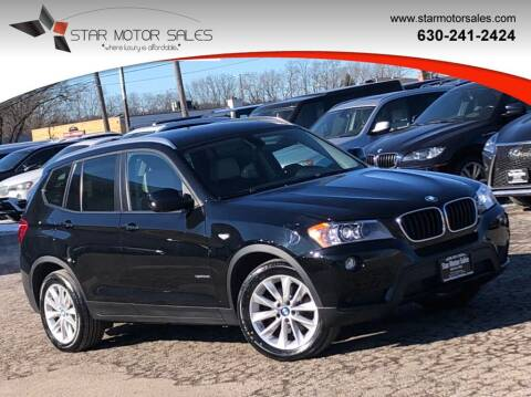 2013 BMW X3 for sale at Star Motor Sales in Downers Grove IL