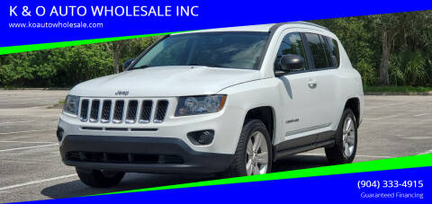 2016 Jeep Compass for sale at K & O AUTO WHOLESALE INC in Jacksonville FL