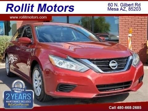 2016 Nissan Altima for sale at Rollit Motors in Mesa AZ
