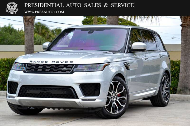 2019 Land Rover Range Rover Sport for sale at Presidential Auto  Sales & Service in Delray Beach FL