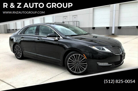 2016 Lincoln MKZ for sale at R & Z AUTO GROUP in Austin TX