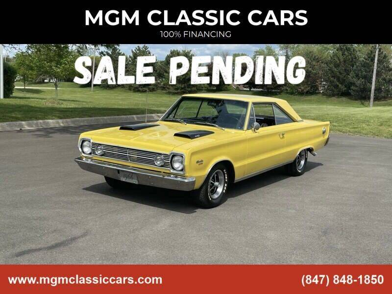 1966 Plymouth Satellite for sale at MGM CLASSIC CARS in Addison IL