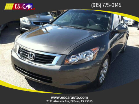 2009 Honda Accord for sale at Escar Auto in El Paso TX