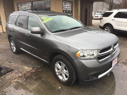 2011 Dodge Durango for sale at G LONG'S AUTO EXCHANGE in Brazil IN