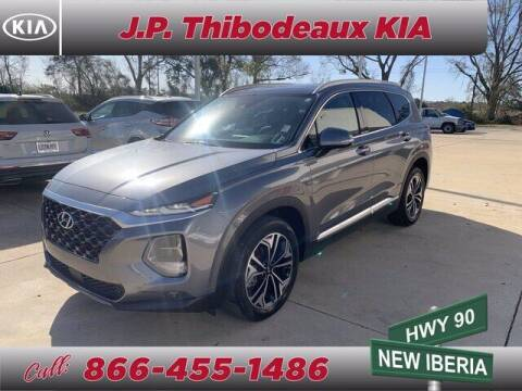 2019 Hyundai Santa Fe for sale at J P Thibodeaux Used Cars in New Iberia LA