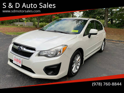 2013 Subaru Impreza for sale at S & D Auto Sales in Maynard MA