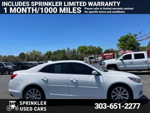 2015 Chevrolet Malibu for sale at Sprinkler Used Cars in Longmont CO