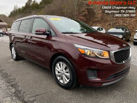 2017 Kia Sedona for sale at Armenia Motors in Seymour TN