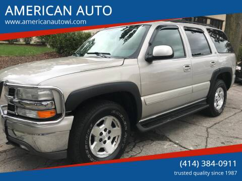 2004 Chevrolet Tahoe for sale at AMERICAN AUTO in Milwaukee WI