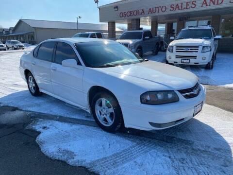 2005 Chevrolet Impala for sale at Osceola Auto Sales and Service in Osceola WI