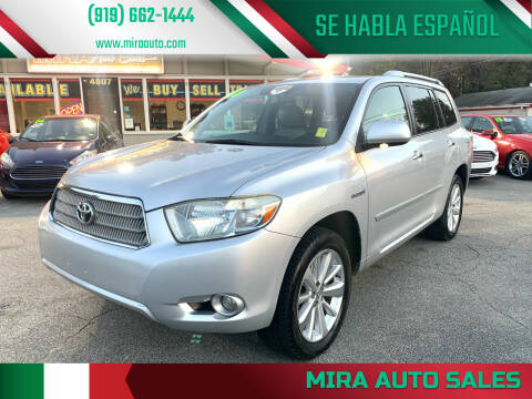 2008 Toyota Highlander Hybrid for sale at Mira Auto Sales in Raleigh NC